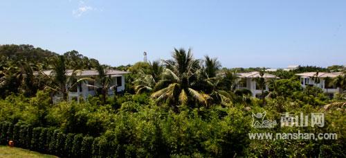 隐藏在三亚南山景区的竹林别墅